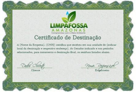 Limpa Fossa com Certificado de Destinação
